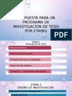 1a Propuesta Para Un Programa de Investigación de Tesis
