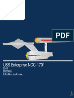 Star Trek USS Enterprise Minimalist