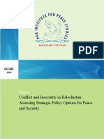 Conflict and Insecurity in Balochistan
