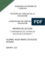 Componentes Del Sistema de Educación a Distancia