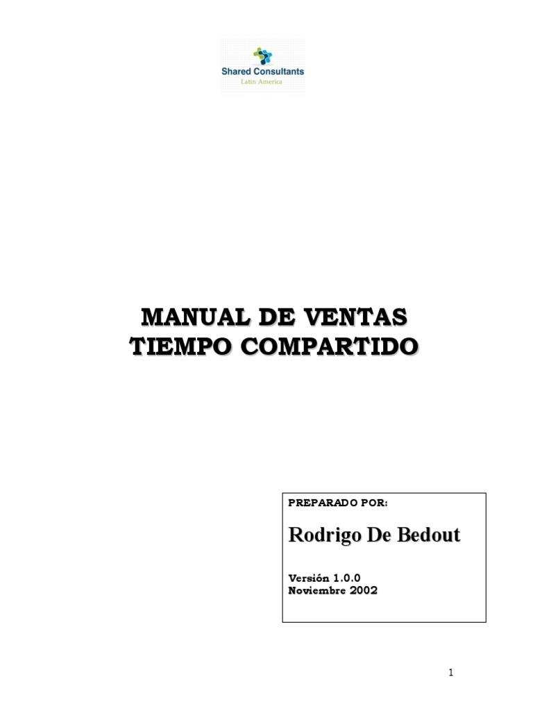 Manual de Ventas Tiempo Compartido SCLA