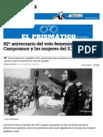 82º Aniversario Del Voto Femenino. Clara Campoamor y Las Mujeres Del S