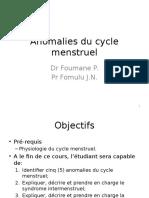 Anomalies Du Cycle Menstruel