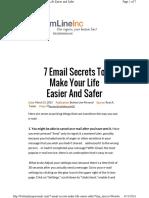 7 Email Secrets Make Life Easier