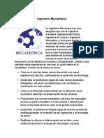 Ingeniería Mecatrónica. orientacion