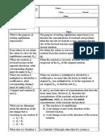 Equilibrium Study Guide Prep101