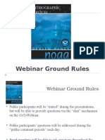 Webinar Ground Rules