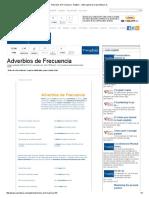 Adverbios de Frecuencia - English - Cultura General en Parentesys