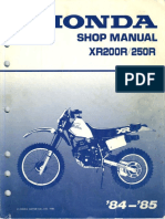 Honda Xr250r Service Manual Repair 1986-1995 Xr250 | Motor Oil | Screw