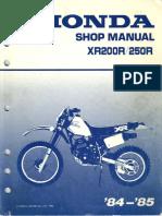 XR250 Manual