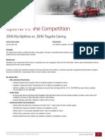 Optima vs. the Competition
