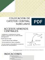 Colocacion de Cateter Subclavio
