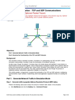 9.3.1.2 Packet Tracer Simulation - Exploration of TCP and UDP Communication - ILM