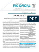 Diario oficial de Colombia n° 49.988. 06 de septiembre de 2016