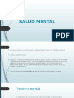 Salud Mental. Estadistica