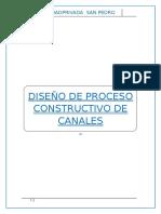 Proceso Constructivo de Canal Rectangular y Trapezoidal