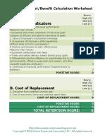 Employee Cost Benefit Worksheet