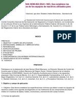 NOM-064-SSA1-1993.. Reactivos Utilizados Para El Diagnostico
