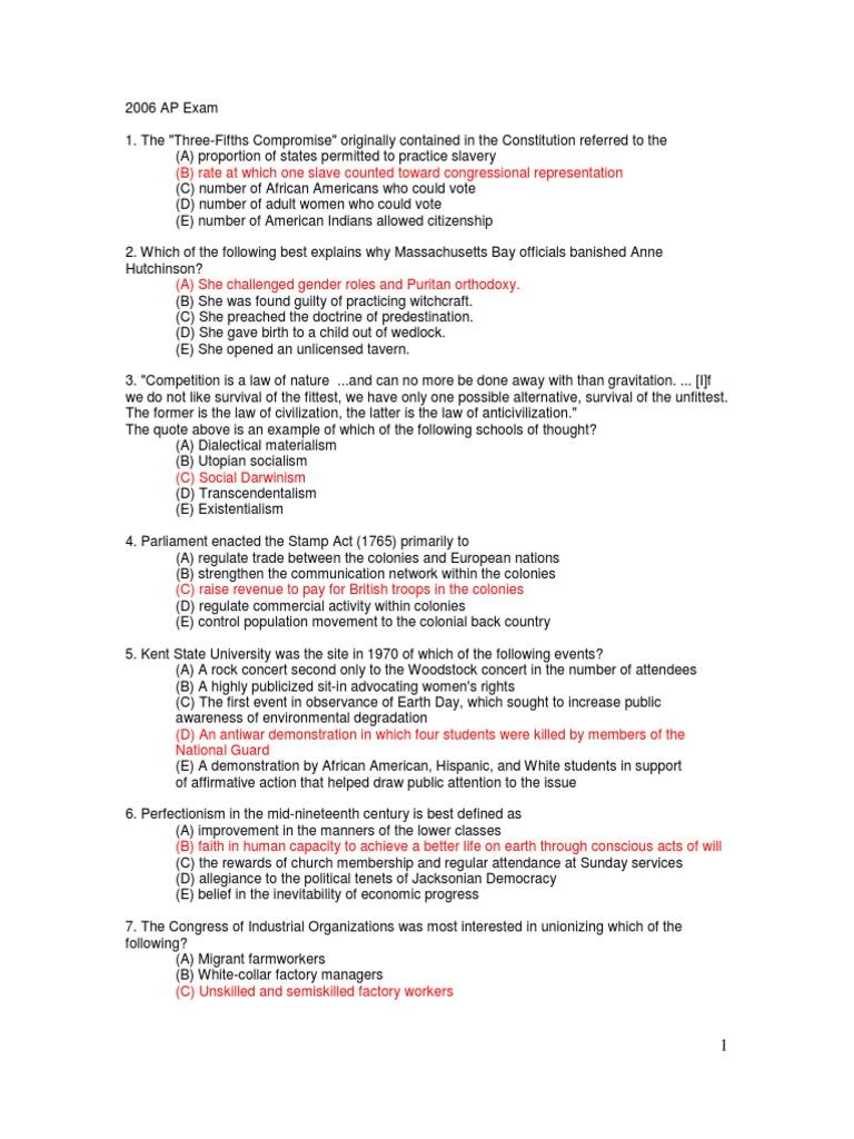 APUSH Semester Exam with answers US State – Shays Rebellion Worksheet