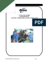 Evaluasi Akhir Intermadiate Engine Completed & FInal Inspection Rev 0