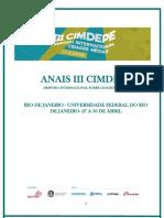 III Simpósio Internacional Cidades Médias, 30 Rio de Janeiro - RJ, 2015