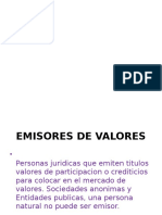 Emisores de Valores;