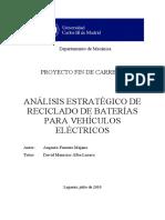 Análisis Estratégico de Reciclado de Baterías Para Vehículos Eléctricos