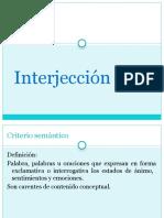 Interjección
