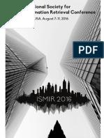 2016 Proceedings ISMIR