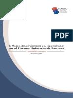 El Modelo de Licenciamiento y Su Implementación en El Sistema Universitario Peruano