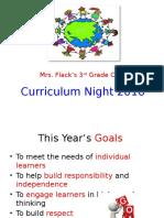 Curriculum Night 2016