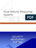 Fluid Velocity Meauring System