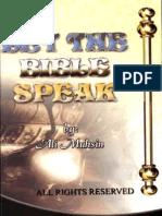 LET THE BIBLE SPEAKSPEAK
