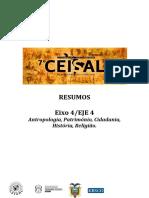 EJE 4 - Antropologia, Patrimonio,Cidadania, História, Religião