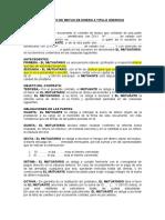 Contrato de Mutuo de Dinero a Titulo Oneroso, Con Clausula de Letra de Cambio