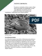 Texto expositivo - Politica Romana.