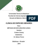 Practica Clinica Especie Menor