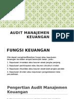 Audit Manajemen Keuangan