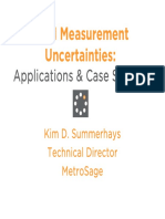 CMM Measurement Uncertainties Applications Case Studies