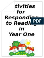 Year One Activities for Responding to Reading in Year 111