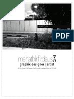 Mahathir Firdaus Online Portfolio