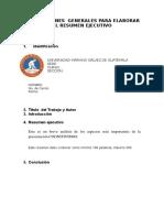 instrucciones para elaborar el resumen ejecutivo