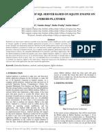 Implementation of SQL Server Based on Sqlite Engine on Android Platform