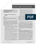 How to Motivate High Level Learners