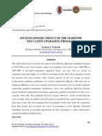 Socio-economic Impact of the Maritime Education Upgrading Program