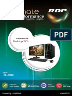 """RDP Desktop D-900 with Intel Core i7 / 4GB RAM / 500GB HDD with 19.5"""" Monitor"""