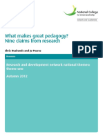 What Makes Great Pedagogy