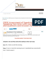 CBSE Assessment of Speaking Task and Speaking Test (ASL) with conversation and Questions and Answers for Class 10.pdf