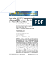 2015 Association of TCF7L2 Gene Polymorphisms With Susceptibility to Type 2 Diabetes Mellitus in a Chinese Hui Population