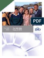 IMD MBA 2015 Class Profile